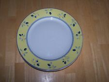 Royal Doulton BLUEBERRY Set of 5 Dinner Plates Yellow Blue