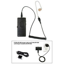 Pryme BTH-300-KIT3 BT Mic + Bullet Clear Tube Earphone for Radios + Cell Phones