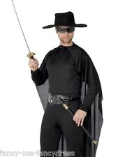 Boys Mens Zorro Rapier Sword & Mask Fancy Dress Costume Accessory Weapon Set Kit