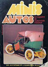 MINIS AUTOS N°45 AOUT SEPTEMBRE 1979 RALLYCROSS LA ZEBRE AU 1/10