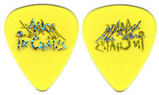 ALICE IN CHAINS Guitar Pick : 2009 Mike Starr signature custom AIC clear yellow