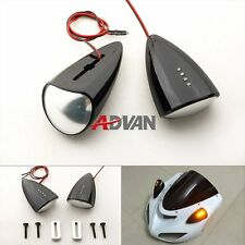Black Custom LED Mirrors Turn Signals For Honda CBR 929RR 929 2000-2001