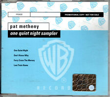 PAT METHENY one quiet night - 4 tracks sampler CD with slimcase PROMO