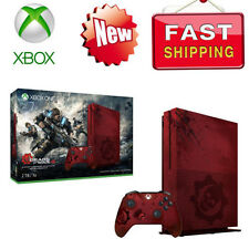 New Microsoft Xbox One S 2TB Console -Gears of War 4 Limited Edition Bundle Red#