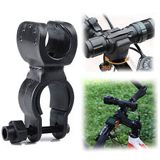 Flashlight Mount Clip Holder 360 Degree Cycle Bike Bicycle Torch LED Clamp Sport