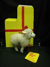 "Vintage Steiff Flori Sheep Standing, MIB, 4"" Tall, Includes All Tags and Button"
