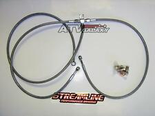 "Streamline +3"" Braided Front Brake Lines Yamaha Raptor 700 & 660 Clear 700R 660R"