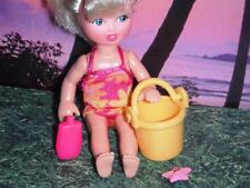 Tiki Bar Stand & Chairs Tropical Coconut Drinks fits Fisher Price Dollhouse Doll