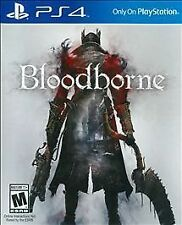 SONY PLAYSTATION 4 PS4 BLOODBORNE BLOOD BORNE VIDEO GAME RATED M FREE SHIPPING