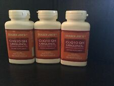 Trader Joe's Co Q10 Ubiquinol 100mg 60gels-lot Of 3 Bottles Exp March 2019