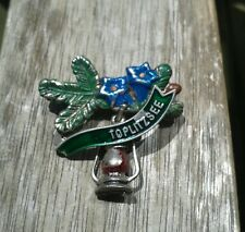 Vintage Oktoberfest Hiking German Bavarian Hat Pin TOPLITZSEE with LANTERN CHARM