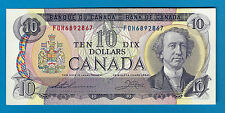 1971  10$ Bank Note Of Canada  Thiessen/ Crow  FDH6892867  UNC  BC-49e