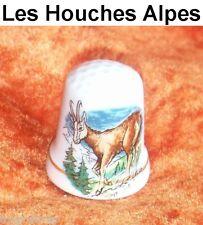 Fingerhut porcelana Capricornio raramente Thimble dheis les Houches Alpes souvenir dedal