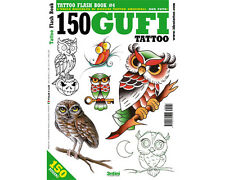 OWL Tattoo Flash Design Book 64-Pages Sketch Birds Owls Black Color Art Supply