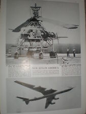 Photo article new USAF helicopter XH-17 and Convair YB-60 jet 1952 refO50s