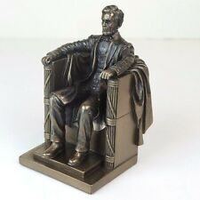 "Seated Abraham Lincoln Memorial USA Bronze Figurine Miniature Statue 5.25""H New"