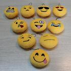 Cute Emoji Emoticon Soft Stuffed Plush Yellow Round Toy Keychain Keyring Doll