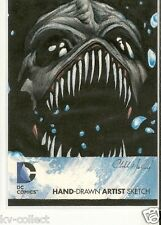 DC Comics THE NEW 52 COLOR SKETCH CARD - AWESOME SKETCH ART