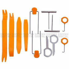 12PCS Car Door Clip Panel Audio Dismantle Removal Installer Nail Puller Pry Tool
