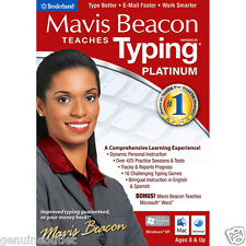 Mavis Beacon Teaches Typing Platinum 20 for PC and MAC Brand New Factory Sealed
