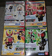 Bandai Masked Kamen Rider Gan Gan Change Candy Toy - Set of 4 W Kuuga KIVA Ghost