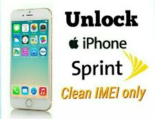 Factory official unlock code service Sprint iPhone 7 7+ 6 6+ Se 6S 6S+5 5S clean
