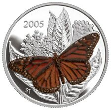 2005 Canada 50 Cents Sterling Silver - Monarch - Butterfly - D504