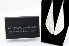 Vtg Sterling Silver Silpada W1161 Dotted Textured Geometric Earrings w Box