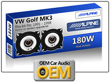 "VW Golf MK3 Front Dash speakers Alpine 4"" 10cm car speaker kit 180W Max Power"
