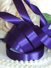 12mm CADBURY PURPLE RIBBON X 3 METRES. IDEAL FOR WEDDING INVITATIONS,FAVOURS ETC