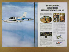 1970 Cessna 414 Airplane 7x color photo vintage print Ad