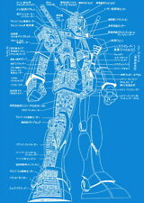 "045 Blueprint - Mobile Suit Gundam 24""x34"" Poster"