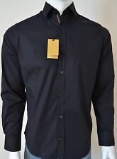 New with Tags Gucci Black Long Sleeve Cotton Blend Front-Button Shirt Size S