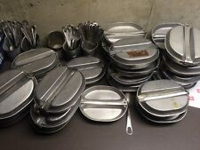 *US Military Complete Mess Kit Dish w/Utensils Fork/Knife & Spoon  RARE Dates.
