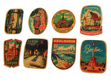Set of Vintage Style German Travel Decals - Camper Bay VW Bus Samba Kombi Type 2