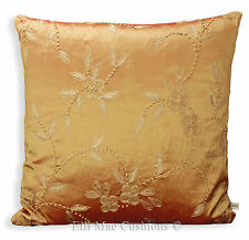 James Hare French Knot Gold Red Silk Designer Fabric Cushion Pillow Cover