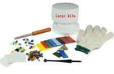 STAINED GLASS FUSING SUPPLIES EXTRA LARGE PROFESSIONAL MICROWAVE KILN KIT NEW!