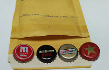 Lot of 4  Spanish Beer Bottle Caps - San Miguel-Estrella Damm-Voll Damm-Mahou