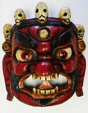 F775 Hand Crafted Wooden Mask of Bhairab Mahakal Wall Hanging Made In Nepal