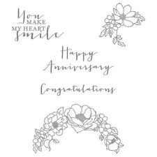 Stampin up Timeless Love clear mount stamp set