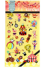 1 sheet Circus clown elephant lion magic hat pattern craft scrapbooking stickers