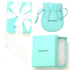 "Tiffany & Co Sterling Silver Chain Necklace, 18"" (NEW w/ Box, Pouch, Ribbon)"