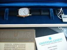VINTAGE UNIVERSAL GENEVE SWISS MADE FROM  BOX PAPERS LOT 64