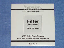 Hama Wratten  Filter  75x75  G4 Green