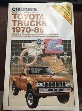 Chilton's Toyota Trucks 1970-1986 Repair Manual Part No 7035 repair tuneup guide