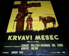 1948 Blood on the Moon ORIGINAL YUGOSLAVIA POSTER Robert Wise Robert Mitchum