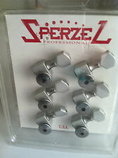Sperzel Satin Chrome 6 in Line Trim Lok Tuners Authentic Guitar Tuning Keys Pegs