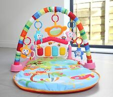 Baby Gym Play Mat Lay & Play 3 in 1 Fitness Music And Lights Fun Piano Pink c