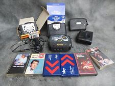 A SELECTION OF SONY WALKMANS PLUS OTHER TAPE PLAYERS,HEAD PHONES,CASSETTE TAPES
