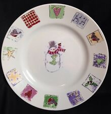 Set of 2 Concord Collections 2001 Gibson Frosty Fellows Dinner Plates